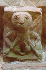 sheela-na-gig sculpture from the book cover