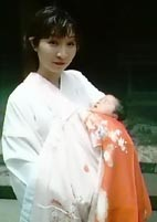 Japanese Baby going to first shrine visit
