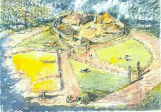 Cinderbury village by an artist
