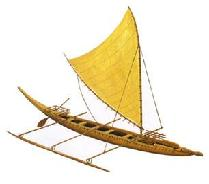 An example of a trading canoe
