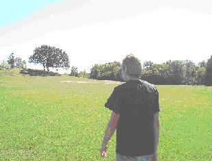 Matt ascending the hill