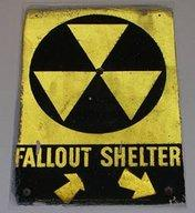 An old battered fallout shelter