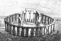 One artist's conception of the original stonehenge