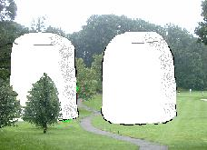 What the two giant watertanks sort of look like at Saint Olaf, no actual photo was available