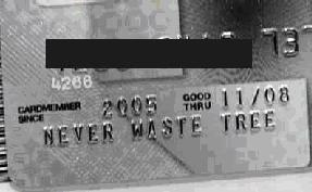 A shot of the incriminating evidence of the junk-credit-mail industry
