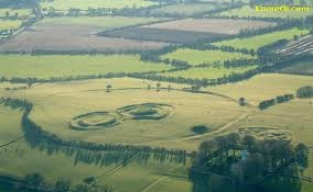 Aerial view of the hill of Tara, where the high kings of Ireland reigned.