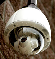Security Cameras in use in the library, along with movement sensors.