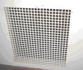 Ventilation Grill of the Library, that leads to a network of ventillation shafts and underground heating tunnels.