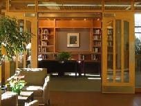 Entrance Hall of Gould Library.  This section has books recommended by students or alumni of Carleton.  It's a pleasant place to have book club meetings.