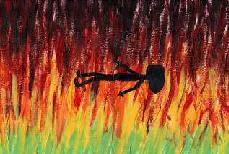 Finding an appropriate picture of hell was difficult, so I drew my own.  Michaelangelo, eat your heart out.