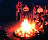 A good old Samhain gathering around the bonfire.