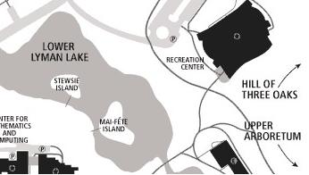 A map of lower lyman lakes.  The neighboring Stewsie island next to this has a low (but large) stone labrynth that people use for meditation.