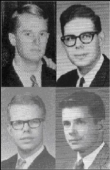 Upper left Fisher, Upper right Cherniack, Lower left Nelson, Lower right Frangquist