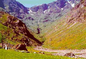 Glencoe valley in western highlands