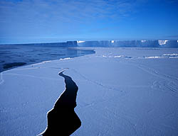 ice sheet crack