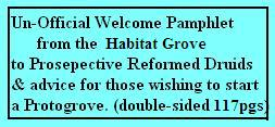 A Ready to print and double-side un-official welcome package about Reformed Druidism and planning a protogrove